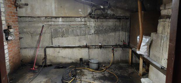 basement before waterproofing